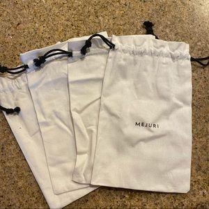 Set of 4 Mejuri Jewelry Bags